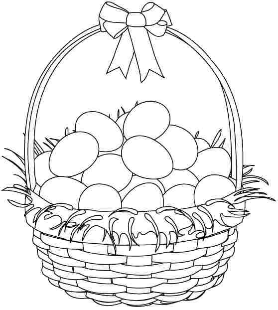 picture relating to Printable Easter Basket referred to as Easter Basket Coloring Internet pages Printable at