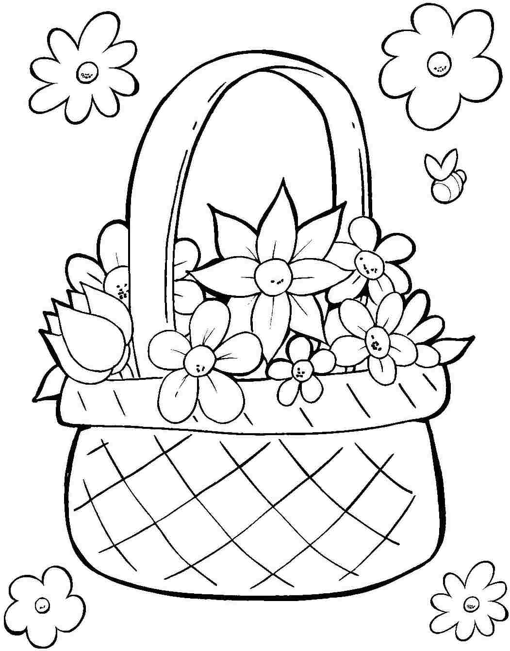 1051x1342 Easter Basket Coloring Page Printables