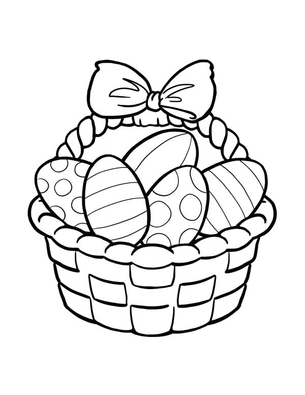 600x776 Easter Basket Coloring Pages Coloring Pages Packed With Floral Egg
