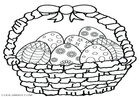 476x333 Easter Basket Coloring Pages Empty Basket Coloring Page Blank