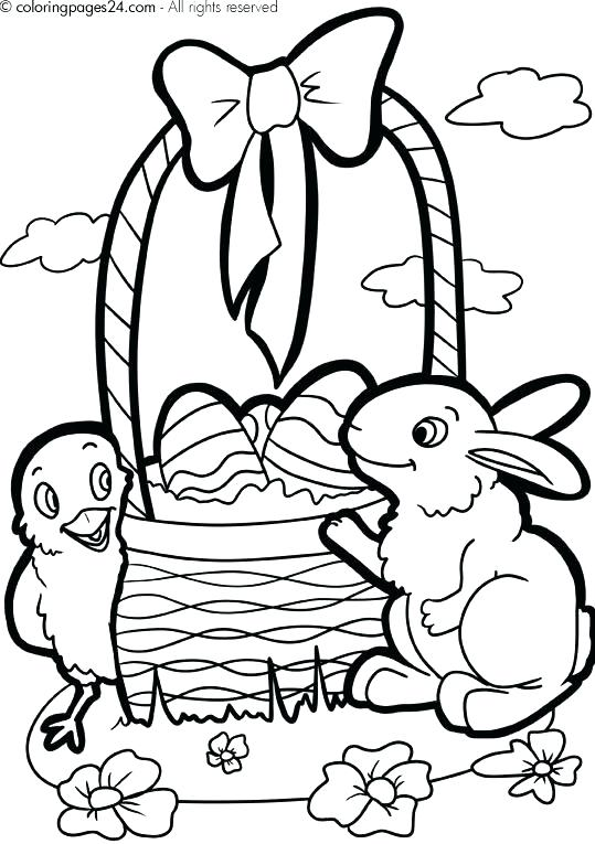 539x765 Easter Basket Coloring Pages To Print Basket Coloring Page Free