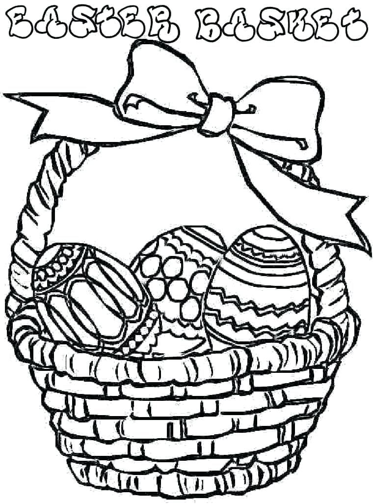760x1026 Easter Basket Coloring Pages To Print Egg Coloring Pages Kids