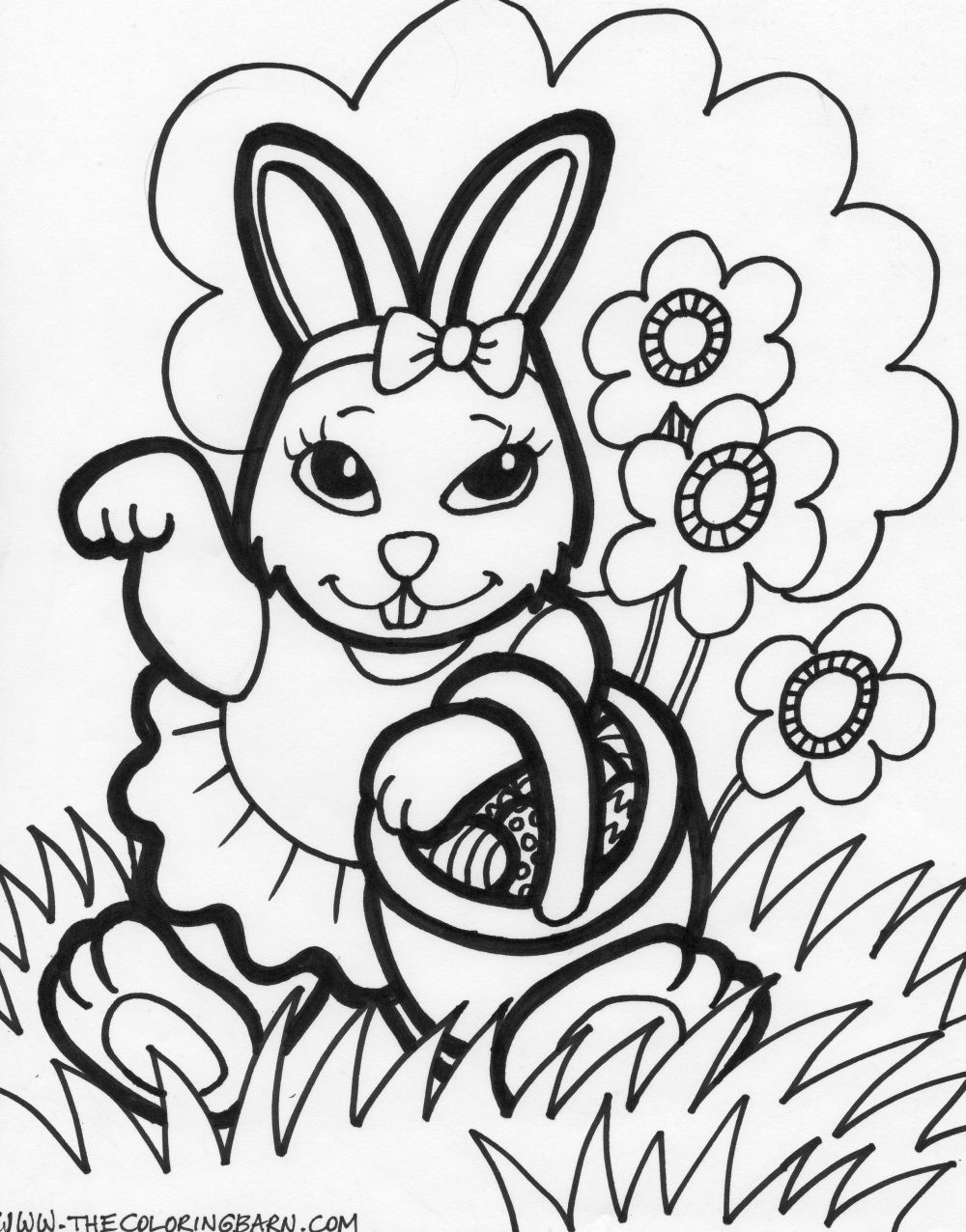 1000x1276 Easter Basket Printable Coloring Pages