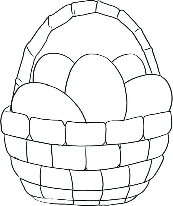 600x715 Easter Basket Printable Coloring Pages Elegant Basket Coloring