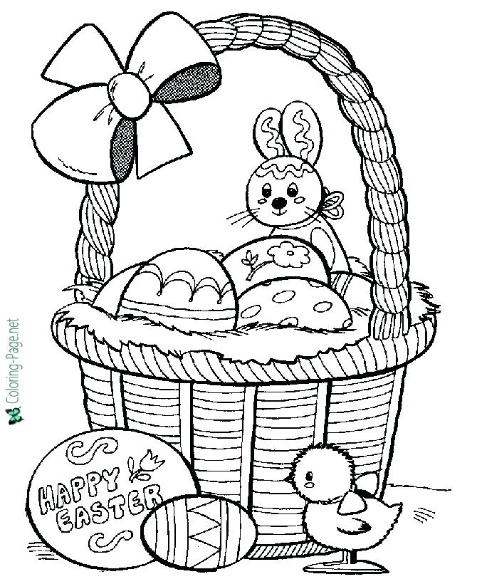 670x820 Easter Baskets Coloring Pages Basket Coloring Pages Printable