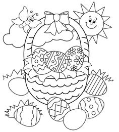 Easter Basket Printable Coloring Pages at GetDrawings.com | Free for ...