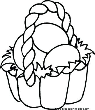 326x377 Free Printable Coloring Pages Easter Basket Baskets Coloring Pages