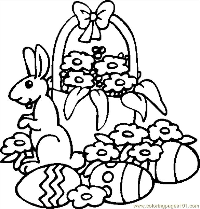 650x681 Free Printable Easter Basket Coloring Pages Color Bros