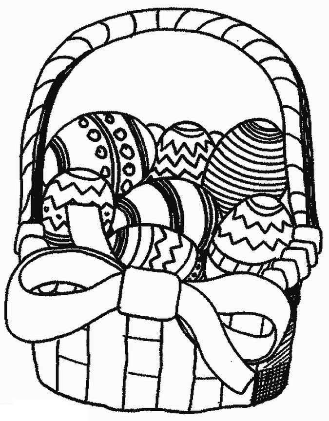 675x864 Easter Basket Coloring Pages