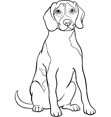 380x400 Beagle Coloring Pages Dog And Puppy