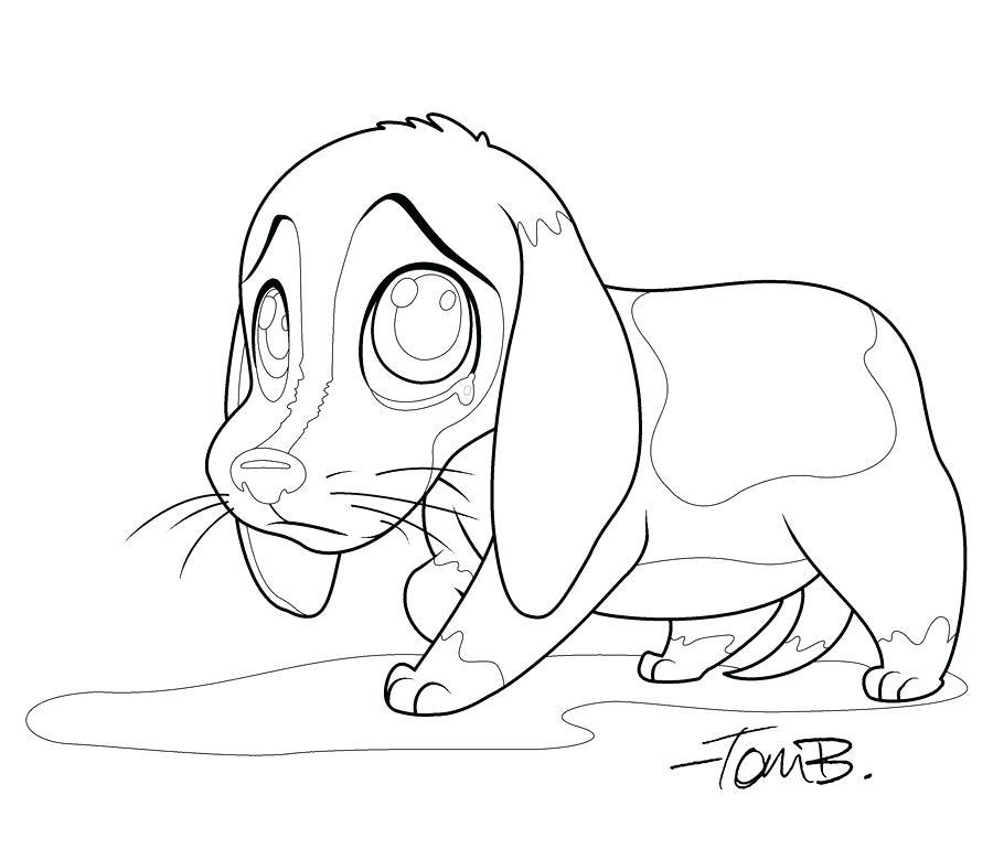 900x770 Sad Beagle Coloring Page