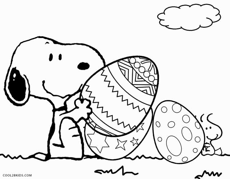 750x583 Snoopy Easter Coloring Pages