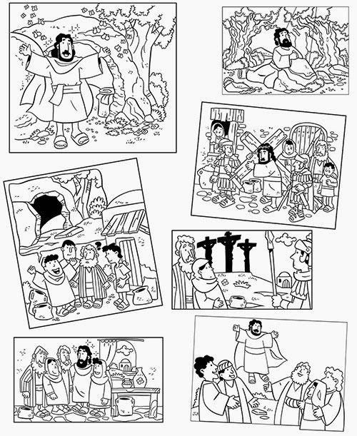 500x611 Coloring Pages Easter Bible Lesson Actividades