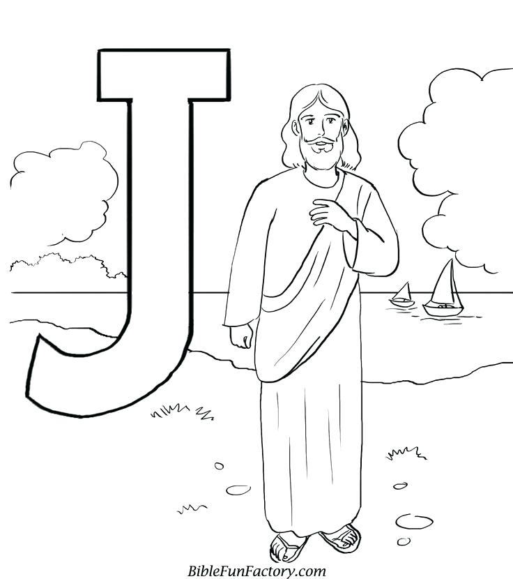 736x830 Jesus Coloring Page Printable Bible Story All People And Angels