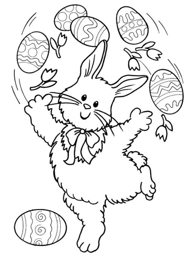 630x833 Easter Bunny Coloring Pages Coloring Book