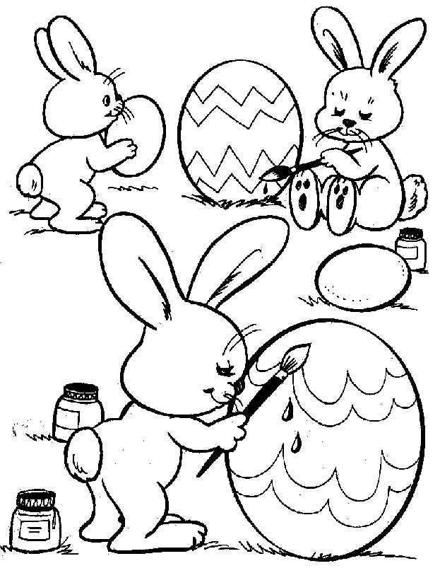 623x810 Easter Coloring Pages Help The Easter Bunny Get His Eggs Painted