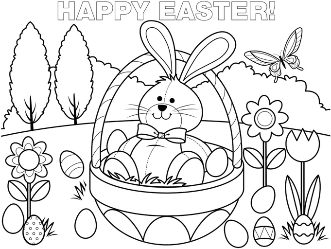 681x512 Free Easter Bunny Coloring Pages To Print Happy Easter
