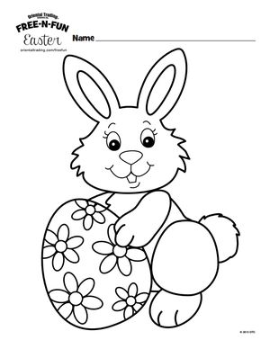 300x388 Coloring Pages Easter Rabbit New