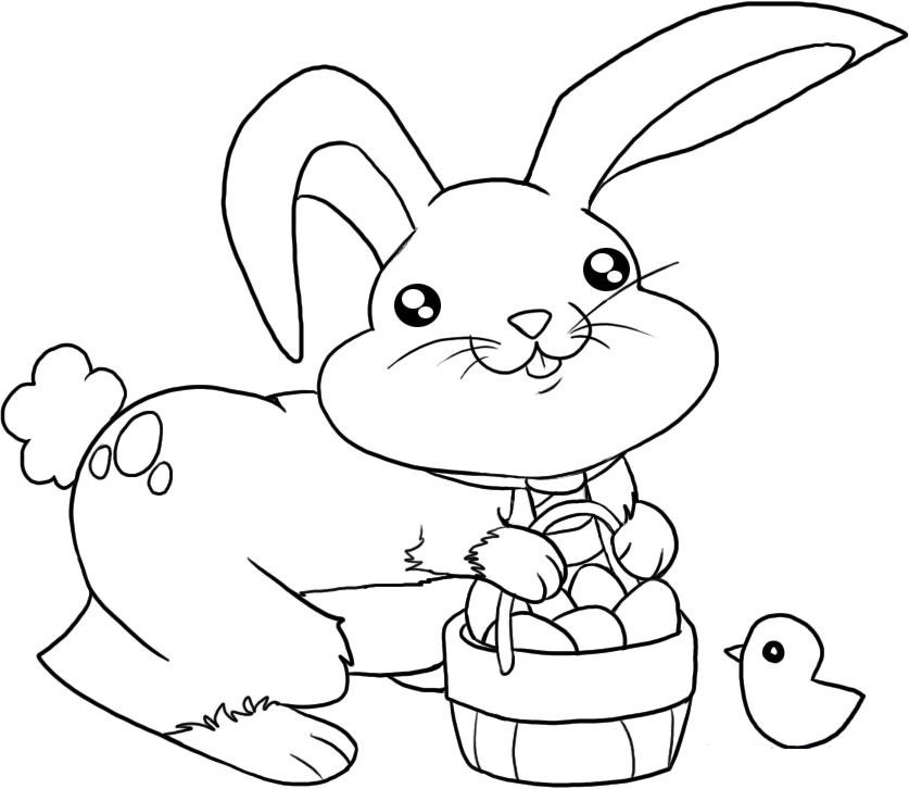 837x726 Easter Bunny Coloring