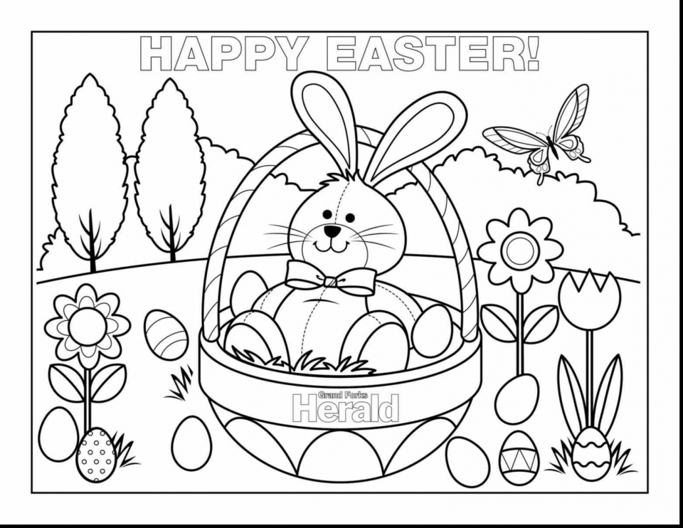 It's just an image of Free Printable Easter Bunny Coloring Pages intended for easter rabbit