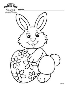 236x305 Easter Bunny Coloring Pages For Kids Easter Bunny