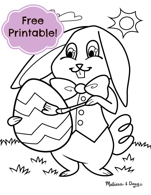 612x792 Preschool Easter Coloring Pages Printable, Happy Easter