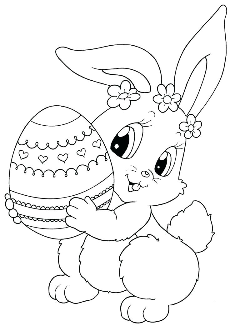 736x1043 Free Easter Coloring Pages For Preschoolers Cute Bunny Picking