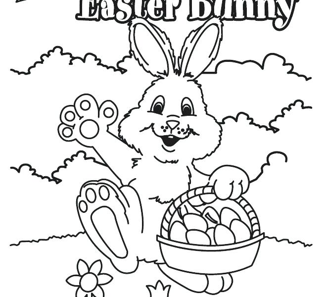 653x600 Free Printable Easter Bunny Colouring Pages Kids Coloring