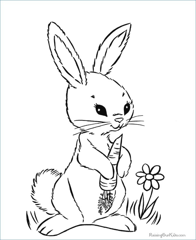 670x820 Preschool Cute Easter Bunny Coloring Pages