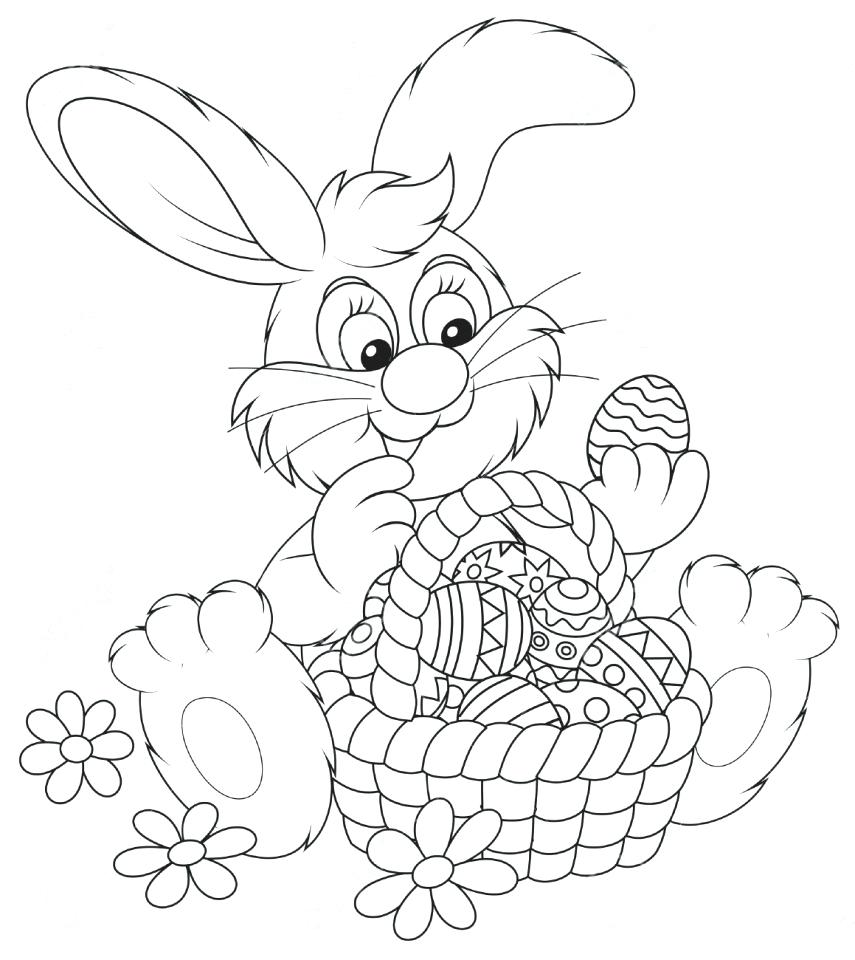 855x960 Coloring Pages Easter Bunny Coloring Page Easter Bunny Coloring