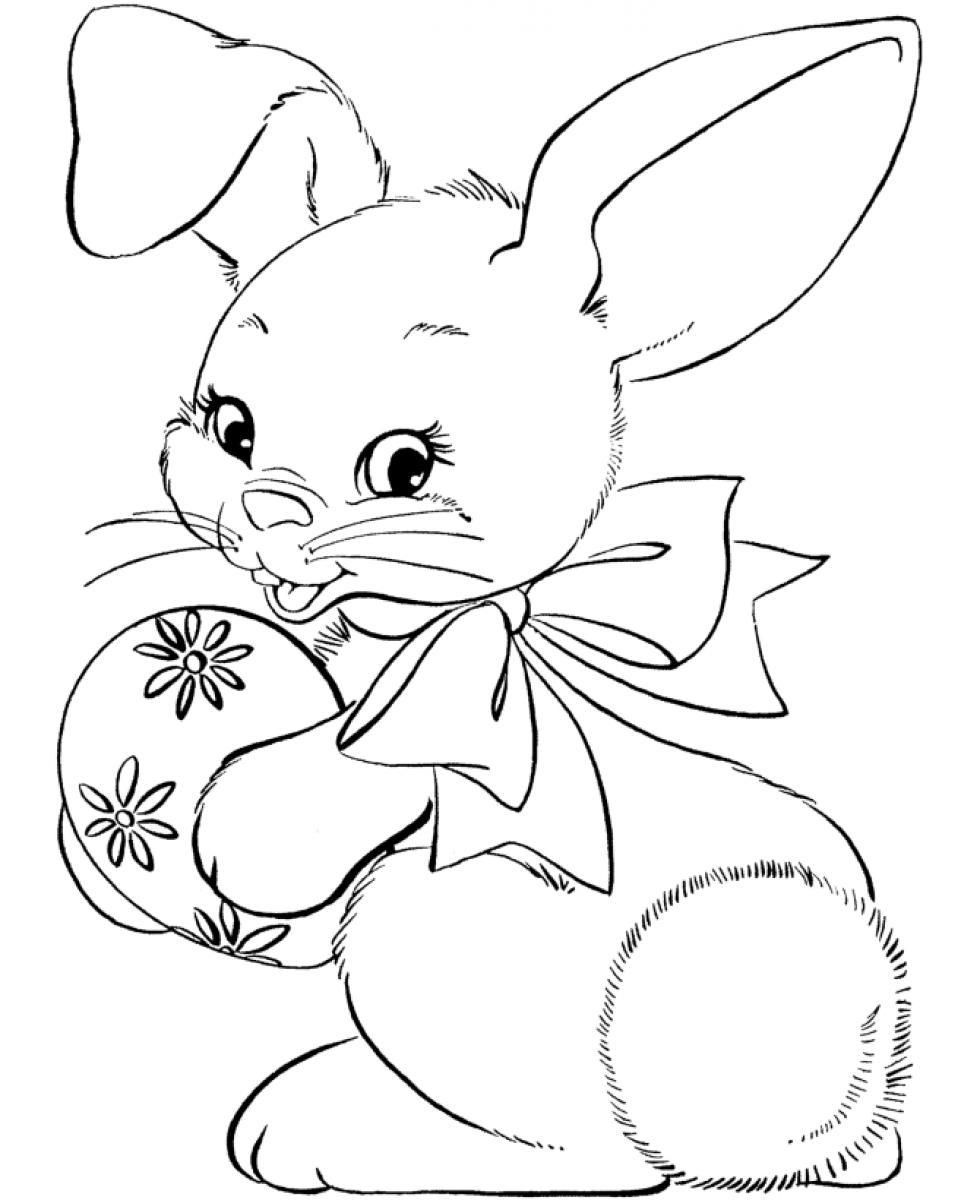 980x1200 Easter Bunny Face Coloring Page Coloring Cartoon Easter Face Baby