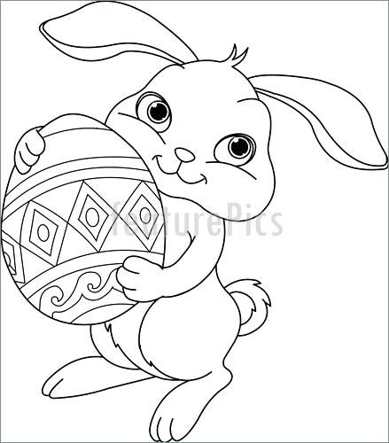 439x500 Bunny Coloring Page Bunny Coloring Pages For Preschoolers