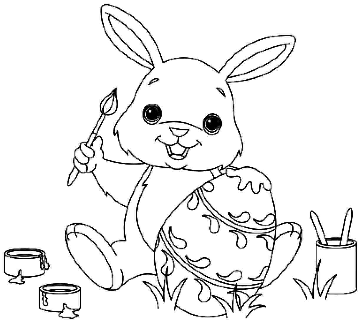 1226x1097 Bunny Coloring Pages Best For Kids Printables Preschoolers Picture