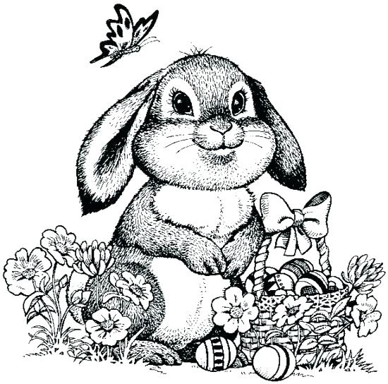 550x544 Coloring Pages Of Bunnies For Easter Bunny Coloring Page Detail