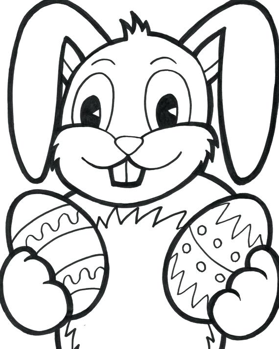570x714 Easter Bunny Color Pages Easter Bunny Coloring Pages To Print