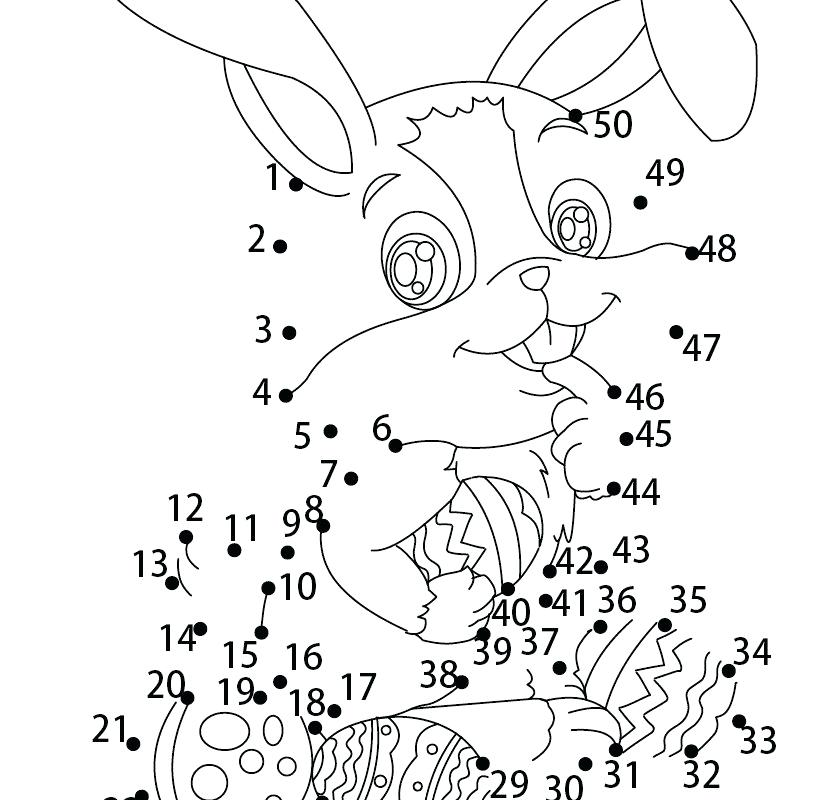 821x800 Easter Bunny With Eggs Coloring Page Bunny And Egg Coloring Page