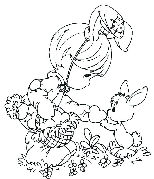 600x696 Easter Bunny Coloring Book Pages Deepart