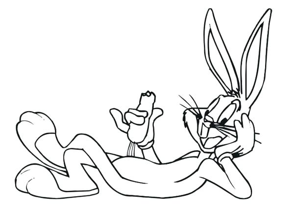 600x425 Bunny Coloring Pages Bugs Bunny Coloring Pages Printable Me