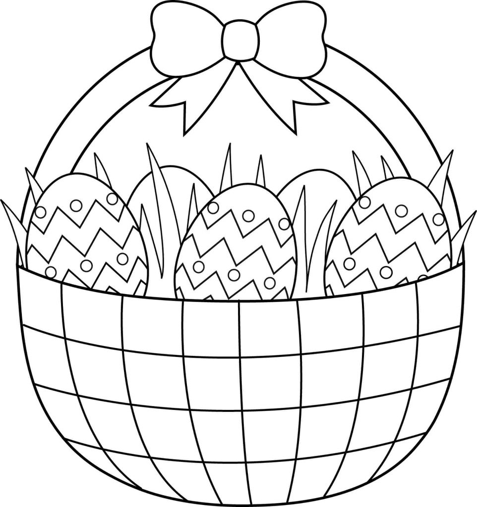 962x1024 Easter Basket Coloring Pages Happy Easter