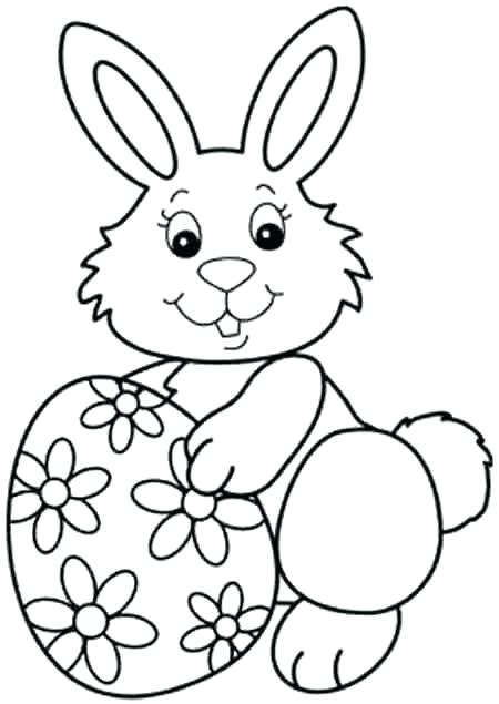 450x635 Easter Bunnies Colouring Pictures Bunny To Colour A Cute Bunny