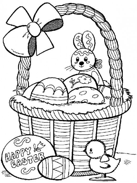 520x694 Kids Easter Themed Coloring Pages