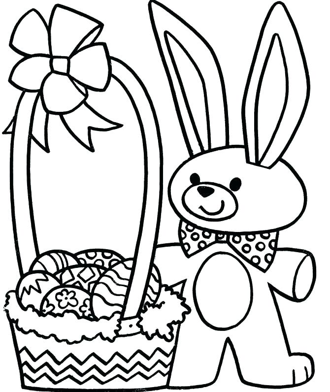 670x796 Easter Bunny Basket Coloring Page Deepart