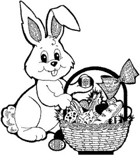 288x320 Beautiful Easter Eggs And Easter Bunny Coloring Pages For Children