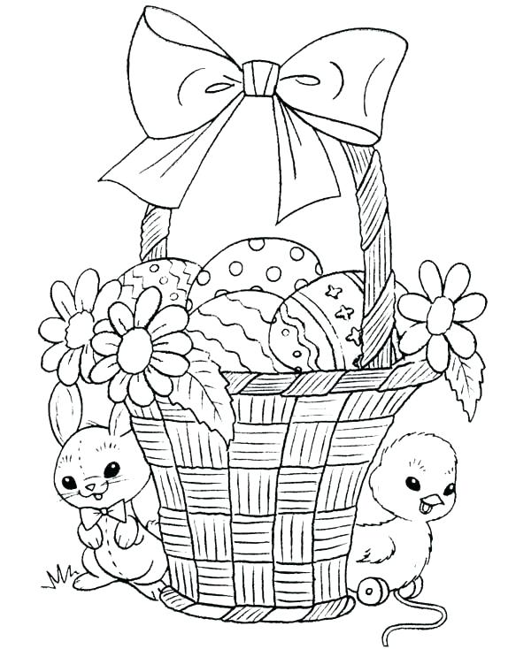 600x734 Easter Flower Coloring Pages Professional