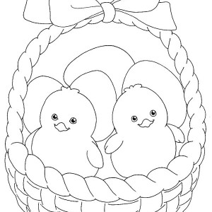 300x300 Decorated Eggs For Easter Inside Easter Basket Coloring Page