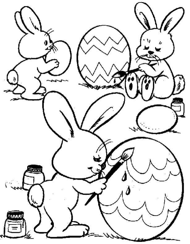 615x790 Easter Bunny Eggs Coloring Page Coloring Book
