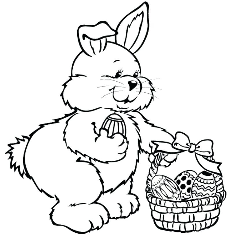 794x826 Easter Bunny Eggs Coloring Pages Cute Happy Fuhrer Von