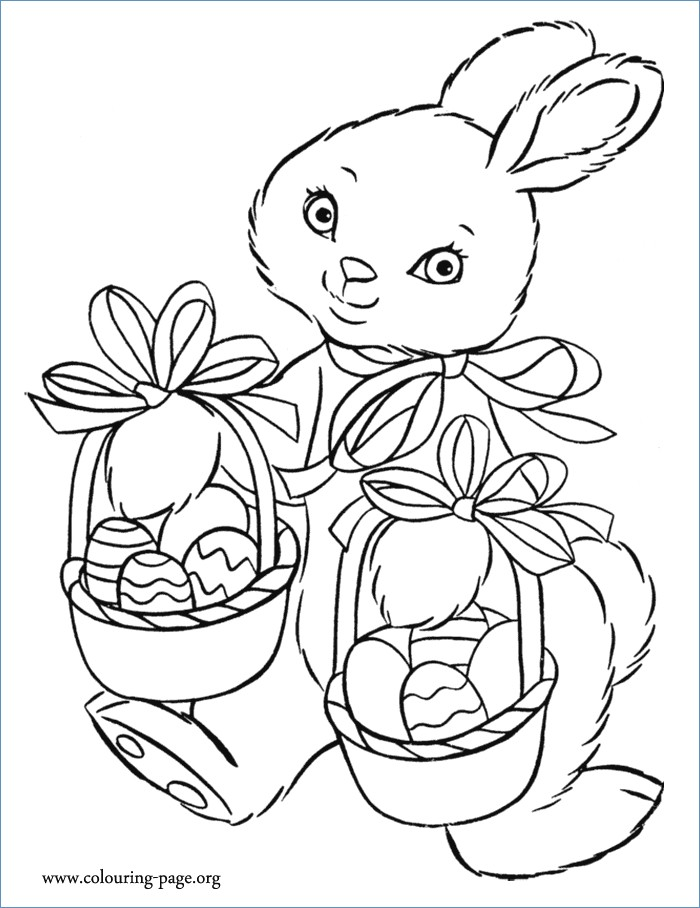 700x908 Easter Bunny Hold Easter Egg Coloring Page