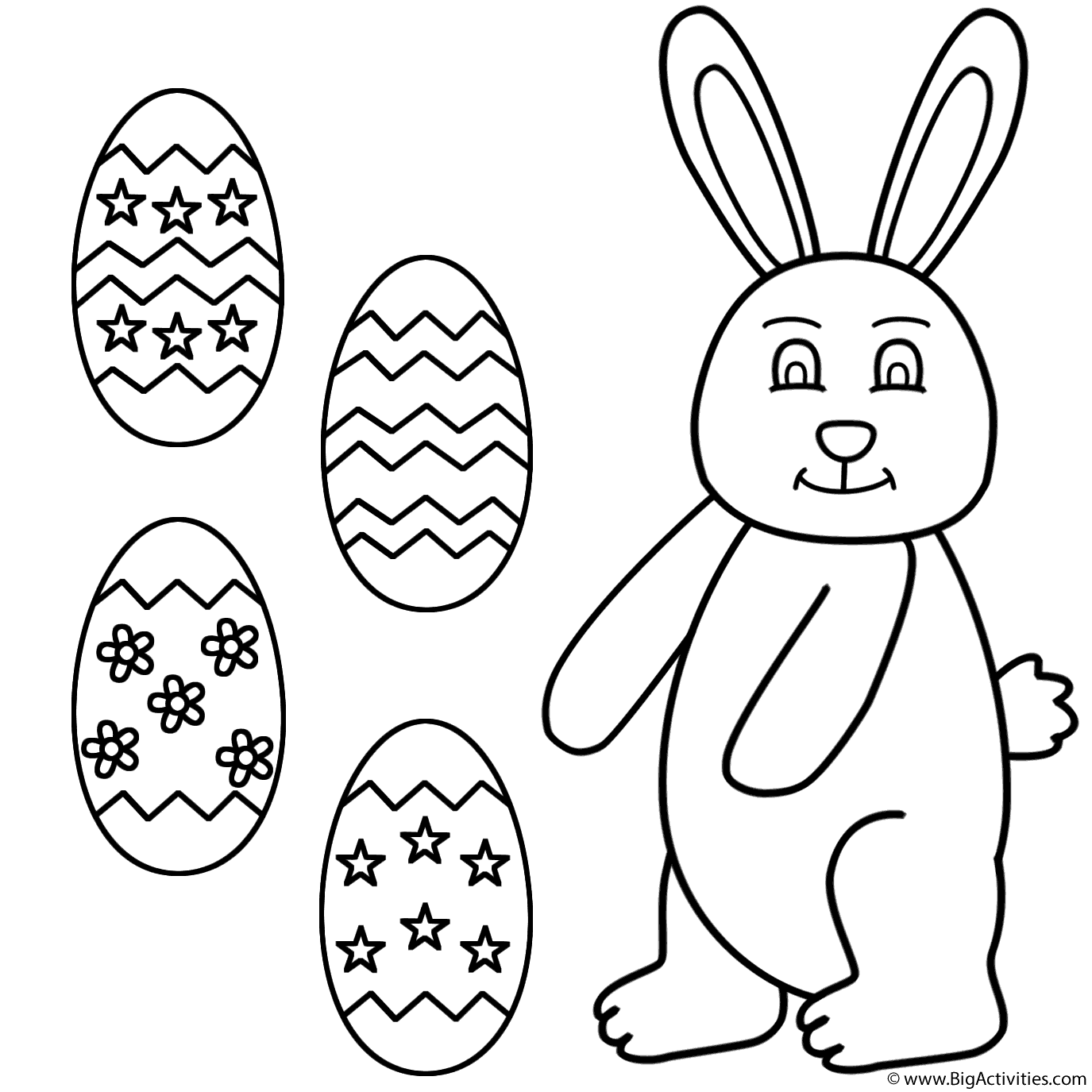 1375x1375 Easter Bunny With Easter Eggs