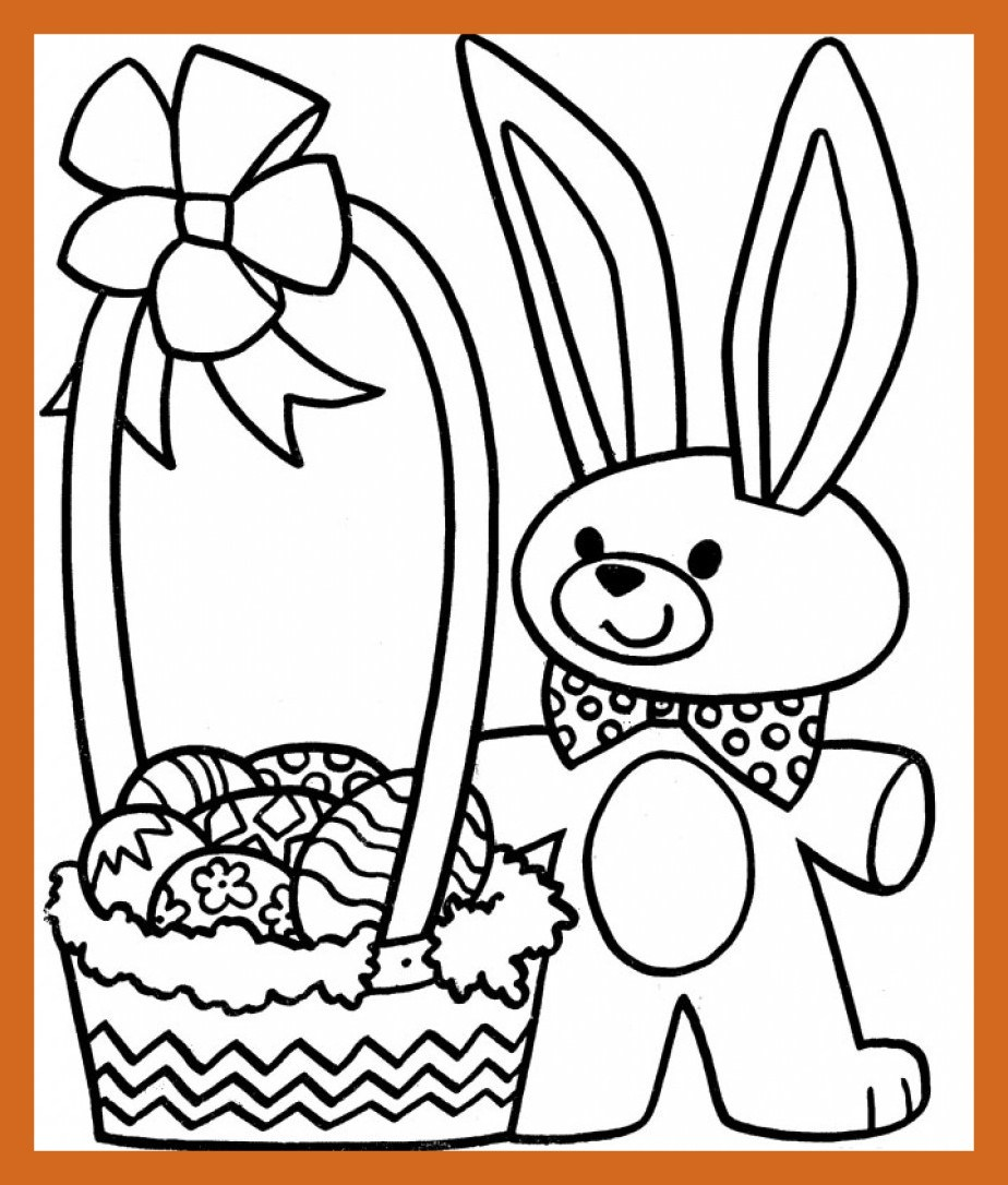 924x1086 Marvelous Easter Bunny And Eggs Coloring Pages For Kids Childrens